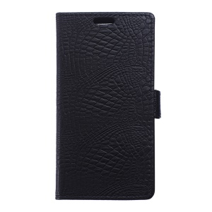 Crocodile Texture Leather Wallet Case for Samsung Galaxy Trend 2 Lite G318H / V Plus G318 - Black
