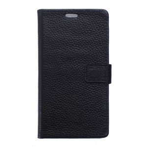Genuine Full Grain Leather Wallet Case for Samsung Galaxy Trend 2 Lite G318H / V Plus SM-G318 - Black