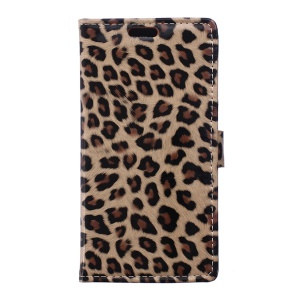 For Samsung Galaxy Trend 2 Lite G318H / V Plus G318 Leopard Wallet Leather Case with Stand