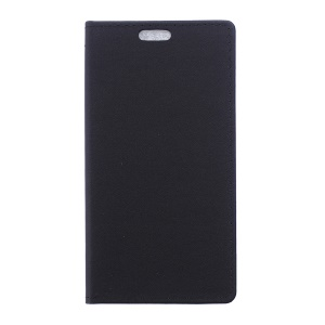 Sand-like Texture Leather Stand Case for Samsung Galaxy Trend 2 Lite G318H / V Plus G318 - Black