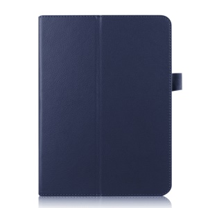 Lychee Stand Smart Leather Shell for Samsung Galaxy Tab S2 9.7 T810 T815 - Dark Blue