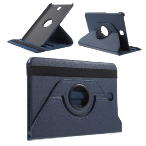 Rotary Stand Leather Flip Case for Samsung Galaxy Tab S2 8.0 T710 T715 - Dark Blue