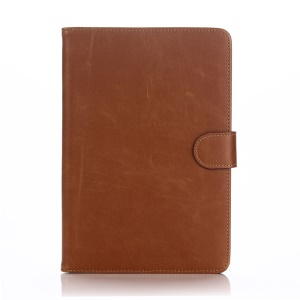 Crazy Horse Retro Smart PU Leather Case Shell for Samsung Galaxy Tab S2 9.7 T810 T815 - Brown