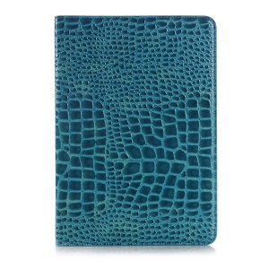 For Samsung Galaxy Tab S2 9.7 T810 T815 Crocodile Texture Smart Leather Cover with Stand - Blue