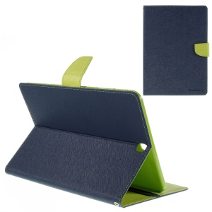 MERCURY GOOSPERY Leather Wallet Cover for Samsung Galaxy Tab S2 9.7 T810 T815 - Blue