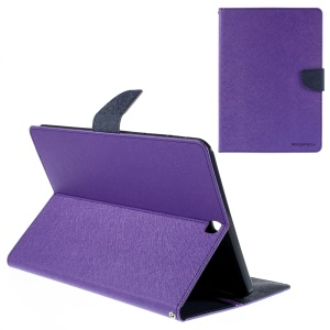 MERCURY GOOSPERY Leather Wallet Cover for Samsung Galaxy Tab S2 9.7 T810 T815 - Purple