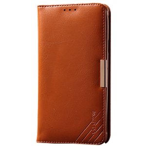 KLD Royal II Series Wallet Genuine Leather Cover for Samsung Galaxy S6 edge G925 - Brown
