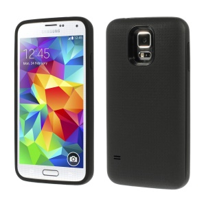 Dream Mesh Extended Battery Plastic Case w/ Battery for Samsung Galaxy S5 G900 - Black