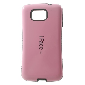 Pink IFACE MALL Glossy PC + TPU Hybrid Cover for Samsung Galaxy Alpha SM-G850F SM-G850M