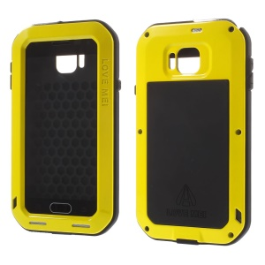 Yellow LOVE MEI for Samsung Galaxy Alpha G850F G850A Powerful Case Shockproof Dropproof Dustproof