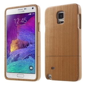 Detachable Wood Grain Hard Case for Samsung Galaxy Note 4 - Maple Wood