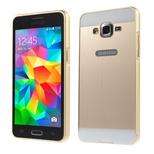 Metal Frame and PC Back Combo Cover for Samsung Galaxy Grand Prime SM-G530H - Gold