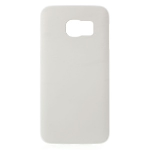 Rubberized Hard Plastic Cover for Samsung Galaxy S6 Edge G925 - White