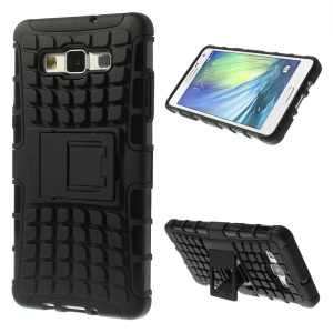 Anti-slip PC and TPU Hybrid Case for Samsung Galaxy A5 SM-A500F - Black