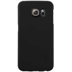 NILLKIN Super Frosted Shield Plastic Hard Case for Samsung Galaxy S6 Edge G925 with Screen Protector - Black