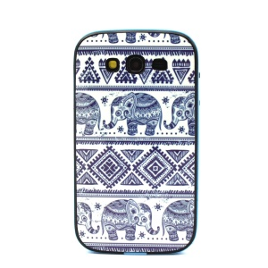 Tribal Elephant for Samsung Galaxy Grand Neo I9060 I9080 PC and TPU Hybrid Cover
