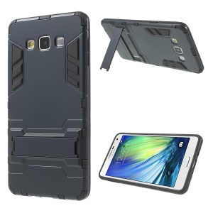 PC and TPU Combo Kickstand Cover for Samsung Galaxy A7 SM-A700F - Dark Blue