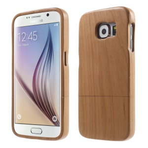 Detachable Handmade Wood Hard Cover for Samsung Galaxy S6 G920 - Brown