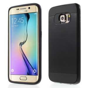 2 in 1 PC and TPU Hybrid Case for Samsung Galaxy S6 Edge G925 - Black