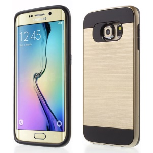 Detachable PC and TPU Combo Cover for Samsung Galaxy S6 Edge G925 - Champagne