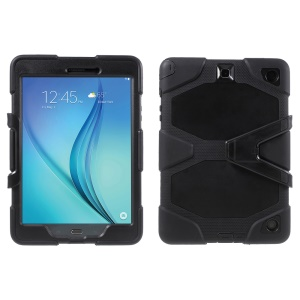 Heavy Duty PC Silicone Case for Samsung Galaxy Tab A 9.7 SM-T550 - Black