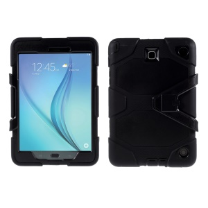 Heavy Duty PC Silicone Case for Samsung Galaxy Tab A 8.0 SM-T350 - Black