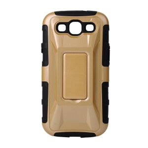 Cool Car PC + TPU Hybrid Case for Samsung Galaxy S3 I9300 with Kickstand - Gold