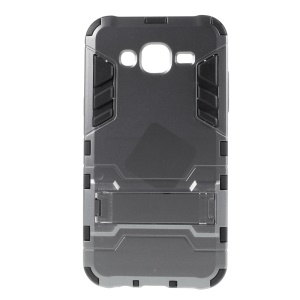Cool PC and TPU Detachable Case for Samsung Galaxy J7 SM-J700F with Kickstand - Grey