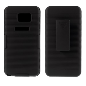 For Samsung Galaxy Note5 N920 Horizontal Stripes Hard Case Stand Belt Clip Holster