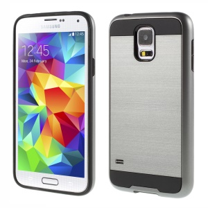 Brushed Plastic + TPU Hybrid Cover for Samsung Galaxy S5 G900 / S5 Neo G903F - Grey