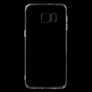 TPU Edge + Crystal Acrylic Back Hybrid Case for Samsung Galaxy S6 edge+ Plus G928 - Transparent
