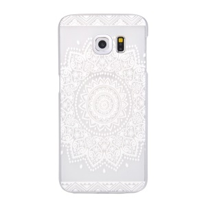 For Samsung Galaxy S6 edge G925 Patterned Translucent Hard Case - Window Papercut Style Flower