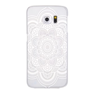Patterned Translucent Hard Shell Case for Samsung Galaxy S6 edge G925 - Blooming Flower