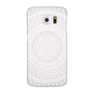 Patterned Translucent Hard Plastic Case for Samsung Galaxy S6 edge G925 - Mandala Flowers