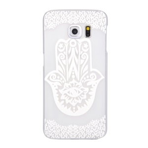 Patterned Translucent Hard Case Cover for Samsung Galaxy S6 edge G925 - Abstract Flower