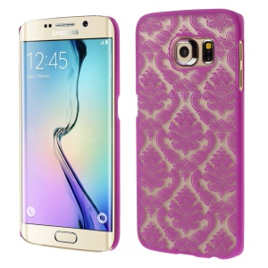 Flower Damask Pattern Hard Shell Cover for Samsung Galaxy S6 Edge G925 - Rose