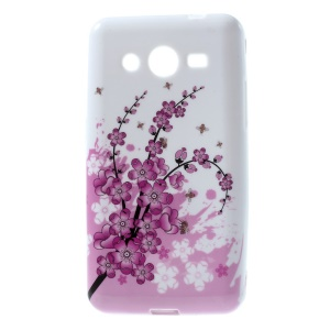 Protective TPU Back Cover for Samsung Galaxy Core 2 G355H - Plum Blossom