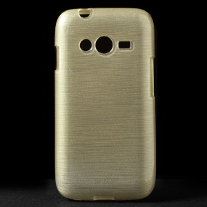 Brushed TPU Gel Shell for Samsung Galaxy Ace NXT G313H - Champagne