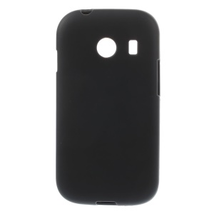 Frosted TPU Gel Back Case for Samsung Galaxy Ace Style G310 - Black