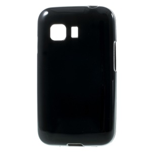 Solid Color Glossy TPU Case for Samsung Galaxy Young 2 SM-G130 - Black