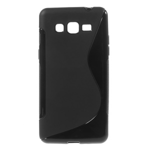 S Shape TPU Case for Samsung Galaxy Grand Prime SM-G530H - Black