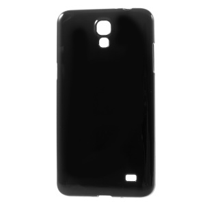 Solid Color Glossy TPU Case for Samsung Galaxy Mega 2 G750 G7508 - Black