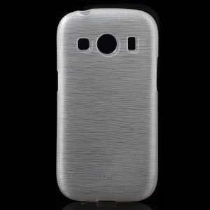 Glossy Outer Brushed Inner TPU Case for Samsung Galaxy ACE Style LET G357FZ / Galaxy Ace 4 SM-G357FZ- White