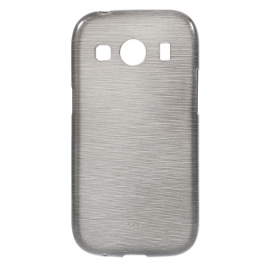 Glossy Outer Brushed Inner TPU Case for Samsung Galaxy ACE 4 G357FZ - Grey