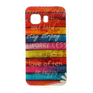 Colorized Stripes Glossy TPU Gel Case for Samsung Galaxy Young 2 SM-G130