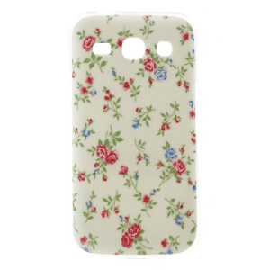 Glossy TPU Case for Samsung Galaxy Star 2 Plus G350E / Star Advance - Girly Red Flowers
