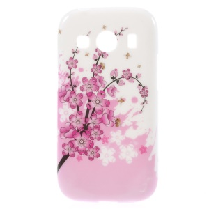 Glossy TPU Shell Case for Samsung Galaxy Ace Style LTE / Ace 4 G357FZ - Plum Blossom