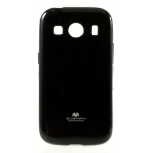 Mercury GOOSPERY Jelly Case for Samsung Galaxy Ace Style LTE / Ace 4 G357FZ Glitter Powder TPU Cover - Black