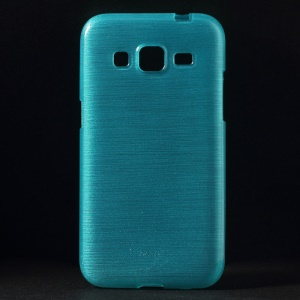Brushed TPU Skin Cover for Samsung Galaxy Core Prime G360 - Blue