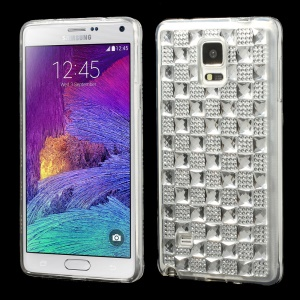 Bling Gel Crystal TPU Case Shell for Samsung Galaxy Note 4 N910 - White
